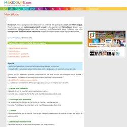 La position concurrentielle des entreprises, Soutien scolaire, Cours Mercatique, Maxicours