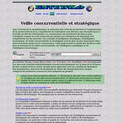 Veille concurrentielle, intelligence strat gique et intelligence