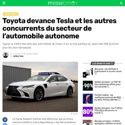 Toyota devance Tesla et les autres concurrents du secteur de l'automobile autonome