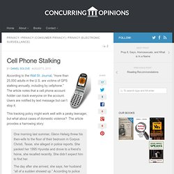 Cell Phone Stalking