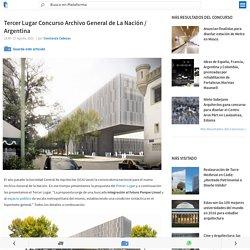 Tercer Lugar Concurso Archivo General de La Nación / Argentina