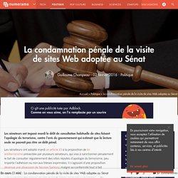 La condamnation pénale de la visite de sites Web adoptée au Sénat - Politique