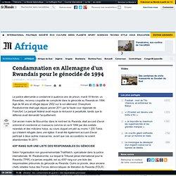 Condamnation en Allemagne d'un Rwandais pour le génocide de 1994
