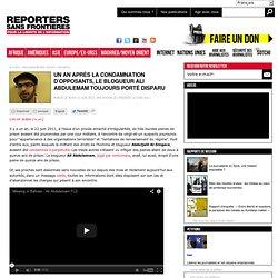 Un an après la condamnation d'opposants, le blogueur, Ali Abdulemam, toujours porté disparu