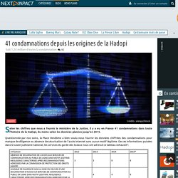 41 condamnations depuis les origines de la Hadopi