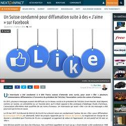 Un Suisse condamné pour diffamation suite à des « J'aime »sur Facebook