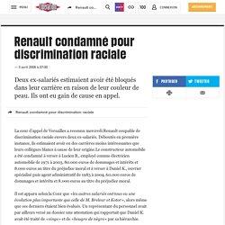 Renault condamné pour discrimination raciale