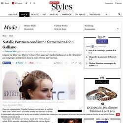 Natalie Portman condamne fermement John Galliano