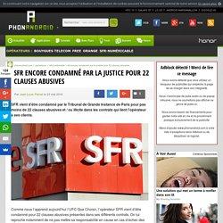 SFR encore condamné par la justice pour 22 clauses abusives