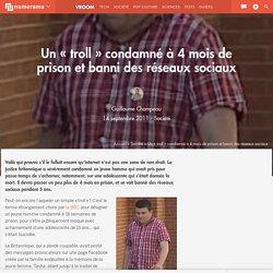 """Un """"troll"""" condamné à 4 mois de prison et banni des réseaux sociaux"""