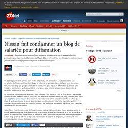 Nissan fait condamner un blog de salariée pour diffamation