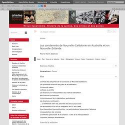 Les condamnés de Nouvelle-Calédonie en Australie et en Nouvelle-Zélande