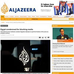 Egypt condemned for blocking media - Middle East