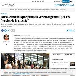 """Duras condenas por primera vez en Argentina por los """"vuelos de la muerte"""""""
