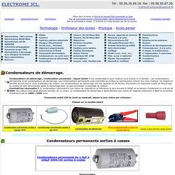 Condensateurs de demarrage, Condensateur démarrage, condensateur moteur