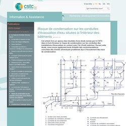 Risque de condensation sur les conduites d'évacuation d'eau situées à l'intérieur des bâtiments