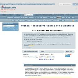 Condens Python pour les scientifiques