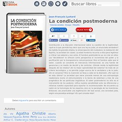 La condición postmoderna