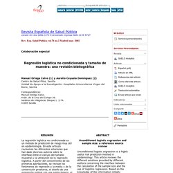 Regresión logística no condicionada y tamaño de muestra: una revisión bibliográfica