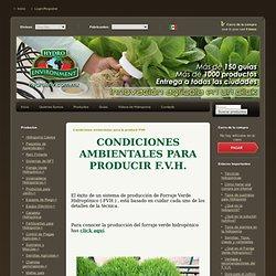 Condiciones ambientales para la producir FVH : .: Hydro Environment .: