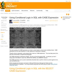 Using Conditional Logic in SQL with CASE Expression - CodeProject