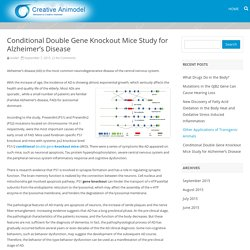 Conditional Double Gene Knockout Mice Study for Alzheimer's Disease