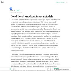 Conditional Knockout Mouse Models – Medium