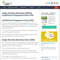 Single Monthly Mortality (SMM) & Conditional Prepayment Rate (CPR) - Finance Train
