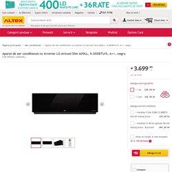 Aparat de aer conditionat cu inverter LG Artcool Slim A09LL, 9.000BTU/h, A++, negru