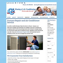 Furnace Repair and Air Conditioner Service PA