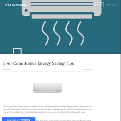 5 Air Conditioner Energy Saving Tips