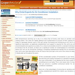 Why Enlist Experts for Air Conditioner Installation