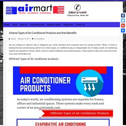 Diverse Types of Air Conditioner Products and their Benefits