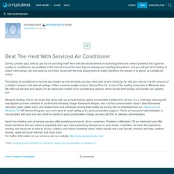 Beat The Heat With Serviced Air Conditioner : serviceprosinc1