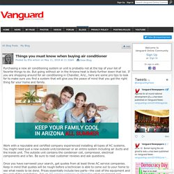 Things you must know when buying air conditioner - Vanguard Online Community