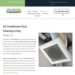 Air Conditioner Vent Cleaning in Key West, FL