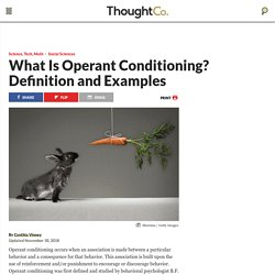 What Is Operant Conditioning? Definition and Examples