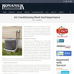 Need Central Air Conditioning