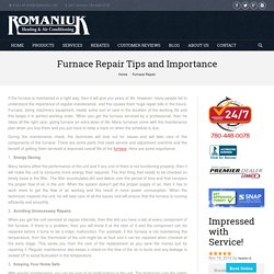 Furnace Repair Tips – Maintain your furnace