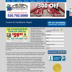 Need Tucson's Emerging Hvac And Plumbing Contractors