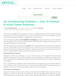 Air Conditioning Problems – How To Prevent & Avoid These Problems