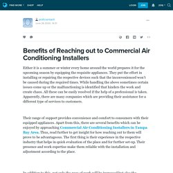 Benefits of Reaching out to Commercial Air Conditioning Installers: proficientairll — LiveJournal