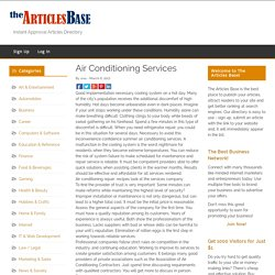 Air Conditioning Services – The Articles Base