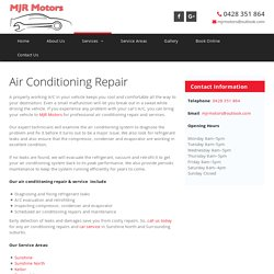 Car Air Conditioning Repair & Service Sunshine North