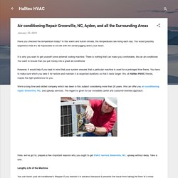 Air conditioning Repair Greenville, NC, Ayden, and all the Surrounding Areas