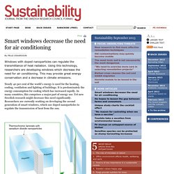 Smart windows decrease the need for air conditioning - Sustainability