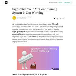 Signs That Your Air Conditioning System Is Not Working