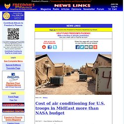 Cost of air conditioning for U.S. troops in MidEast more than NASA budget