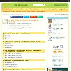 Quizz Le futur simple et le conditionnel simple de l'indicatif - Quiz Conjugaison,…