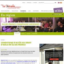 Conditions d'accès au droit d'asile en Île-de-France - La Cimade